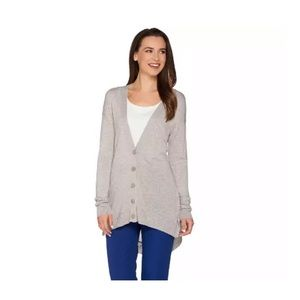 H by HALSTON Button Front Neutral Cardigan XL